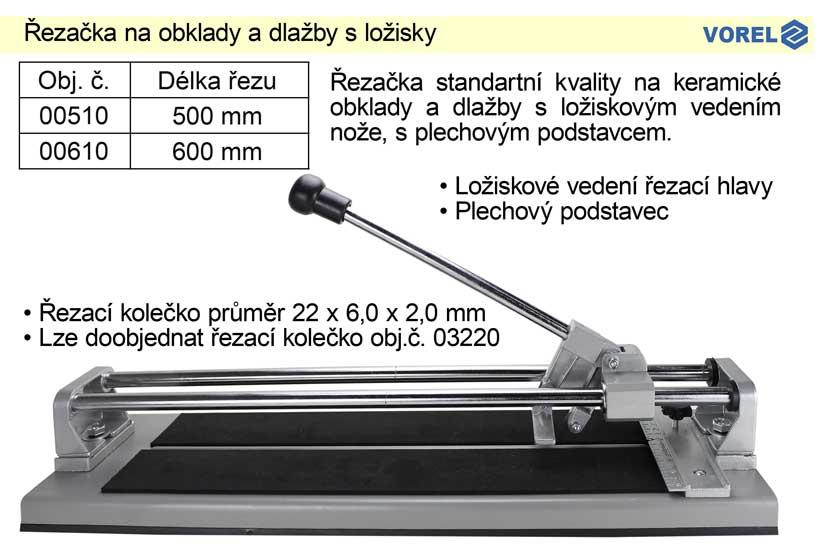 Řezačka na obklady a dlažby s ložisky 600mm