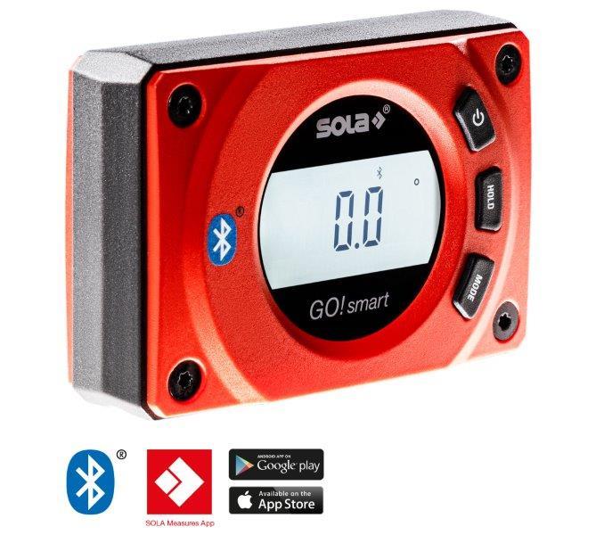 SOLA - GO! SMART Digitalní vodováha 8cm, Bluetooth