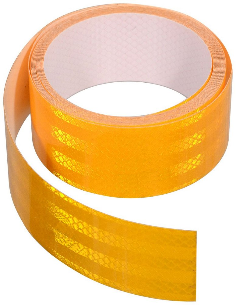 Samolepící páska reflexní 5m x 5cm žlutá (role 5m) Nářadí 1.344Kg AT-01541