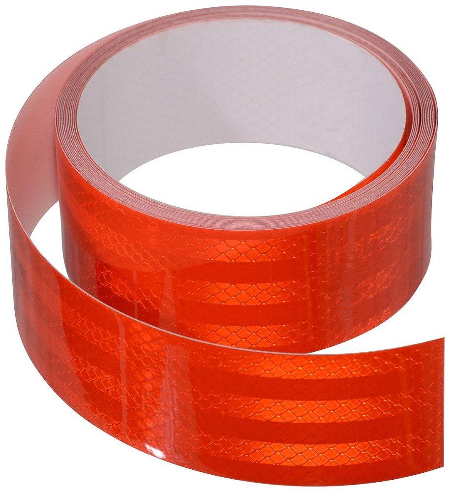 Samolepící páska reflexní 5m x 5cm červená (role 5m) Nářadí 0.46Kg AT-01543