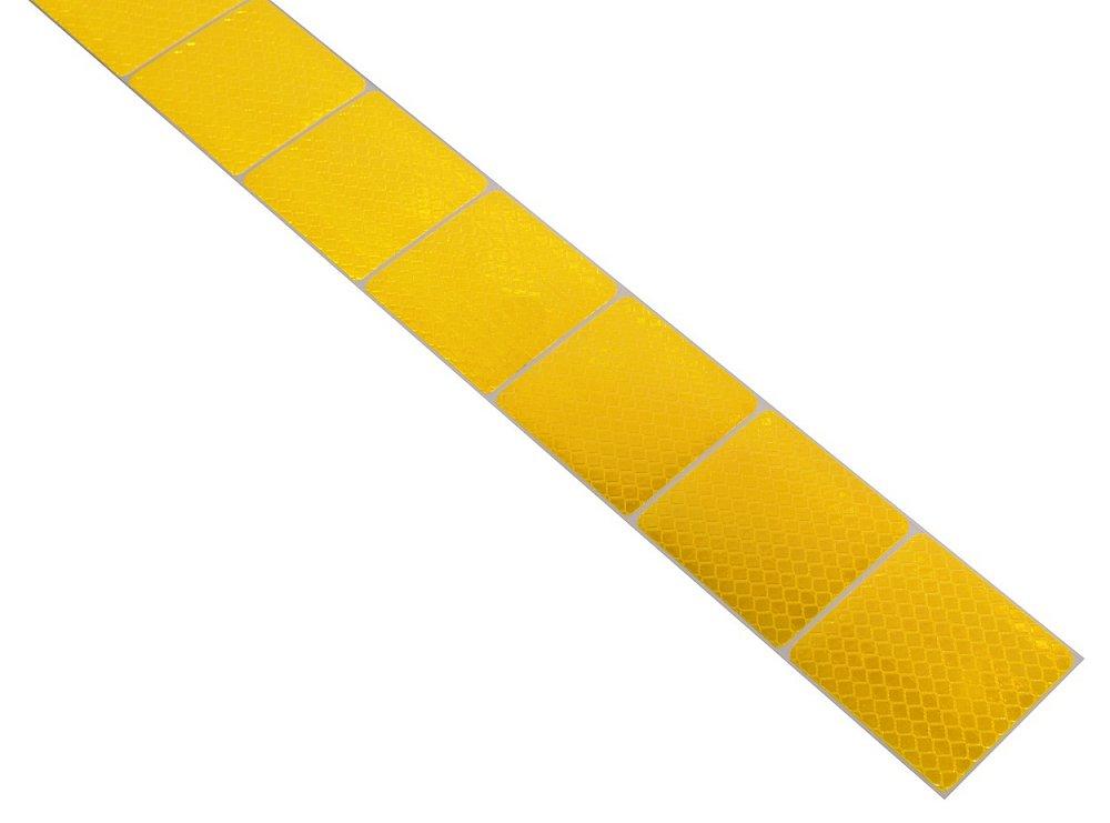 Samolepící páska reflexní dělená 1m x 5cm žlutá Nářadí 0.034Kg AT-01544
