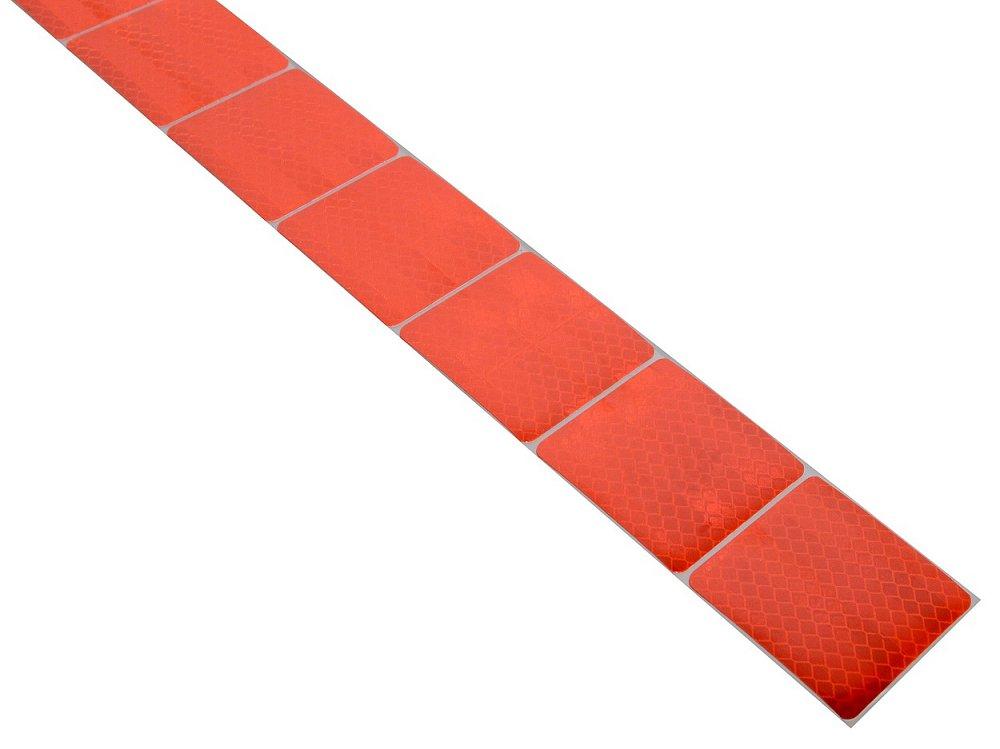 Samolepící páska reflexní dělená 1m x 5cm červená Nářadí 0.034Kg AT-01546