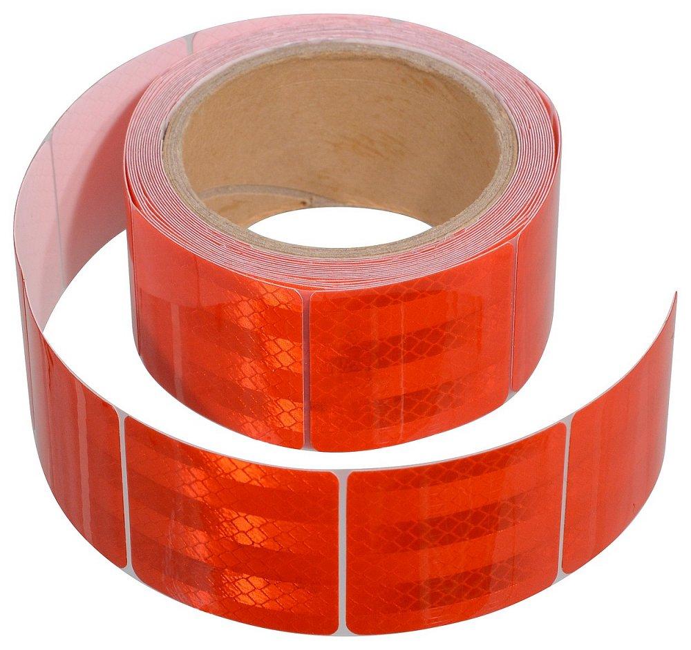Samolepící páska reflexní dělená 5m x 5cm červená (role 5m) Nářadí 0.25Kg AT-01549