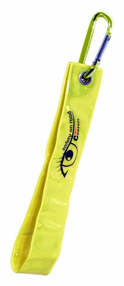 Přívěšek s karabinou reflexní S.O.R. žlutý Nářadí 0.0275Kg AT-01573