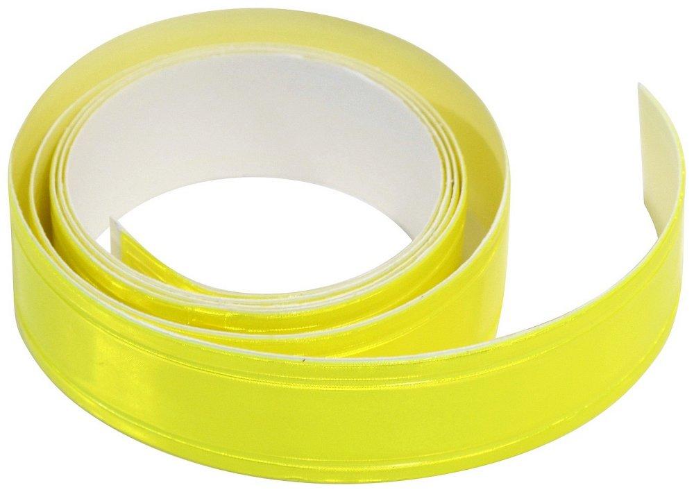 Samolepící páska reflexní 2cm x 90cm žlutá Nářadí 0.02Kg AT-01584