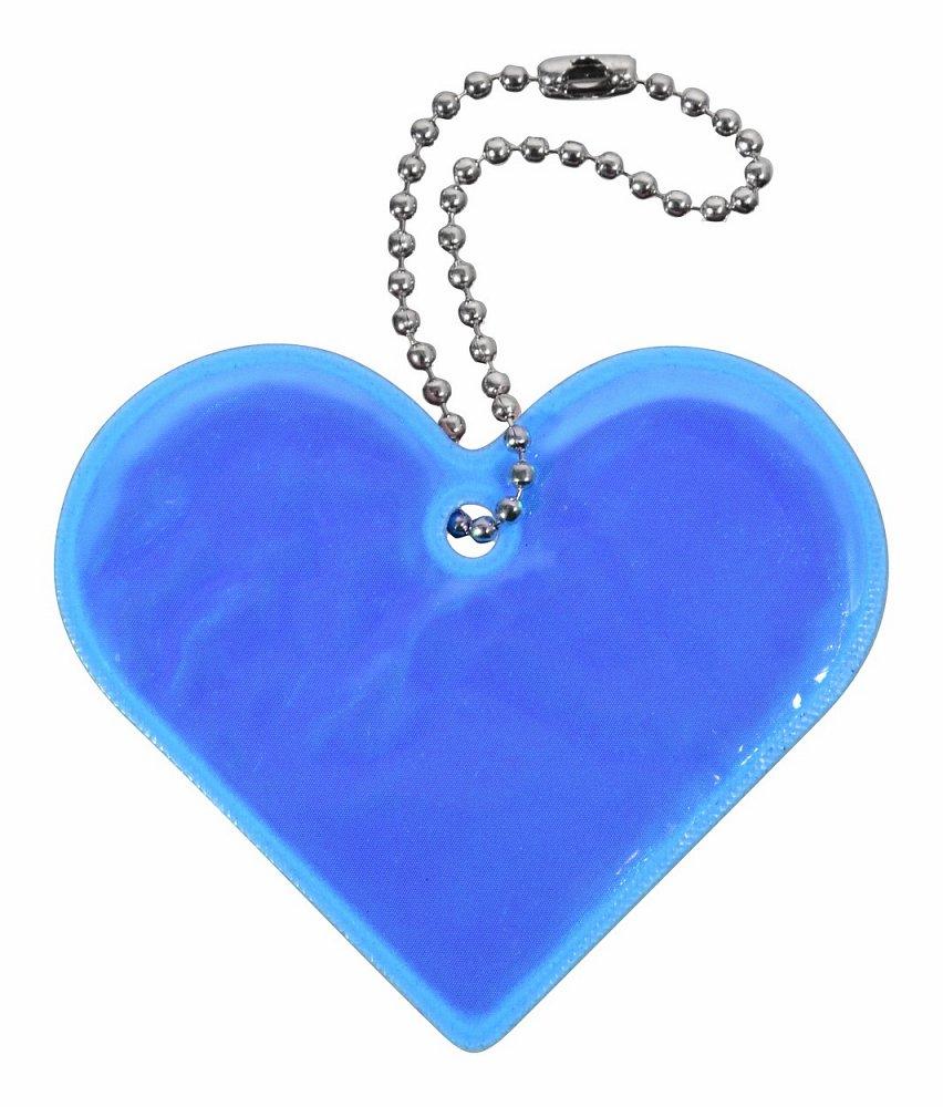 Přívěšek reflexní SRDCE - modrý Nářadí 0.006Kg AT-01721