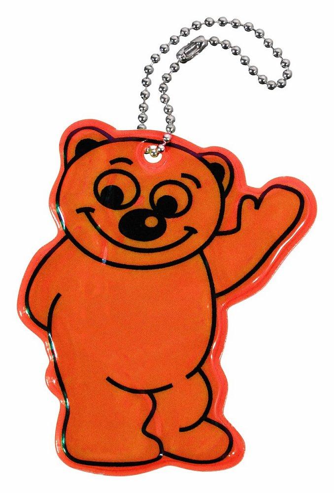 Přívěšek reflexní BEAR - oranžový