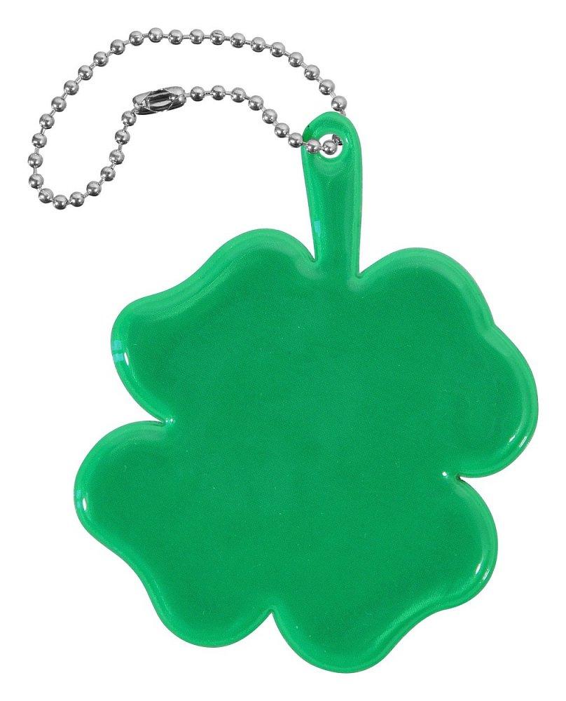 Přívěšek reflexní ČTYŘLÍSTEK - zelený Nářadí 0.006Kg AT-01726
