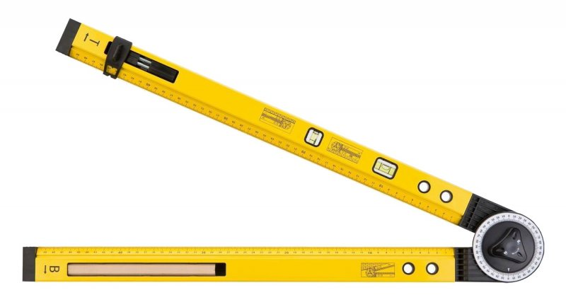 TOPEX 30C321 Multifunkční úhloměr s vodováhou a pravítkem, 500mm 2 libely, tužka, hroty Nářadí 0.3Kg 30C321