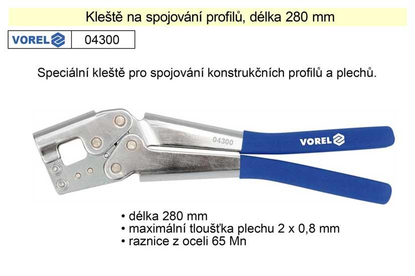 Kleště na profily délka 280 mm Vorel