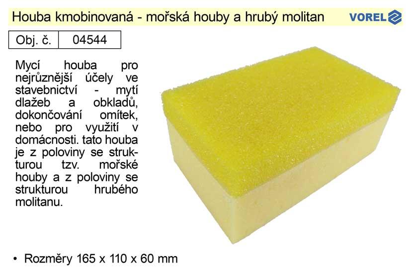 Houba kobinovaná se strukturou mořské houby a hrubého molitanu 165x1
