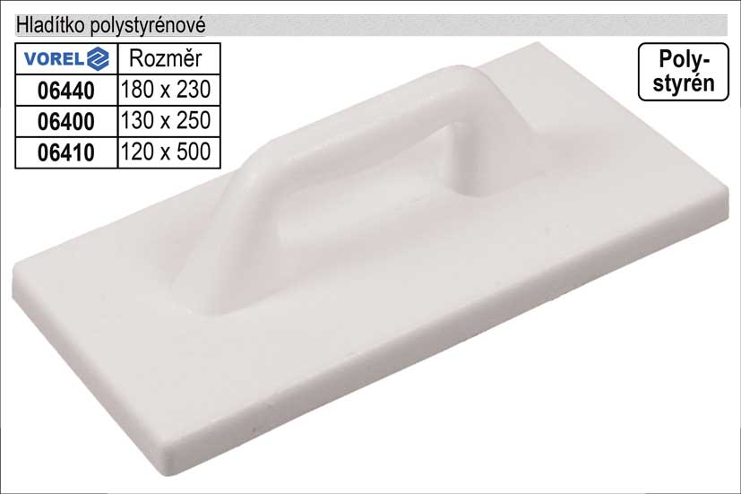 Hladítko polistyrénové hladké 500x120mm