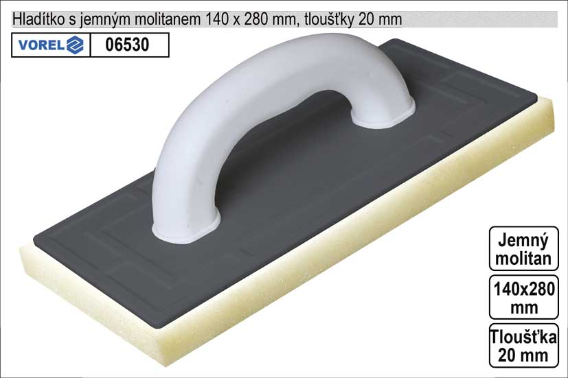 Hladítko molitanové jemné 270x140mm