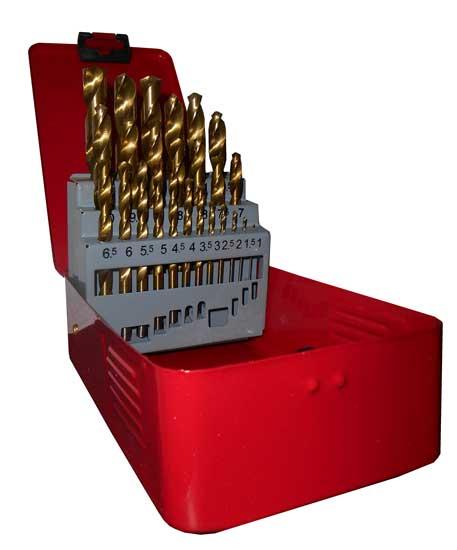 Vrtáky do kovu HSS 1-13mm Magg 070005 sada 25 kusů v plechové kazetě Nářadí 1.25Kg 70005