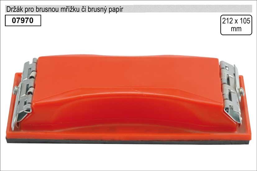 Držák pro brusnou mřížku či brusný papír rozměr 105x212mm