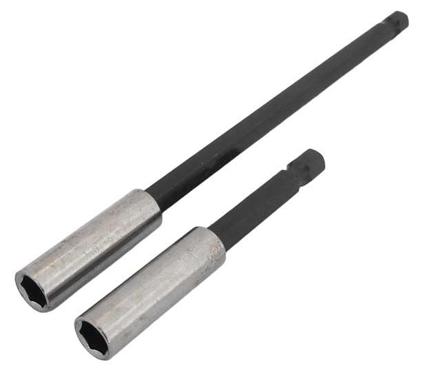 """Držák bitů magnetický, sada 2ks délka 75mm a 150mm, stopkou šestihran 1/4"""", Magg"""