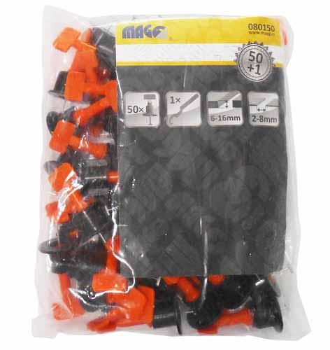 MAGG Set pro pokládání dlaždic 50x úchyt, 1x plastový klíč