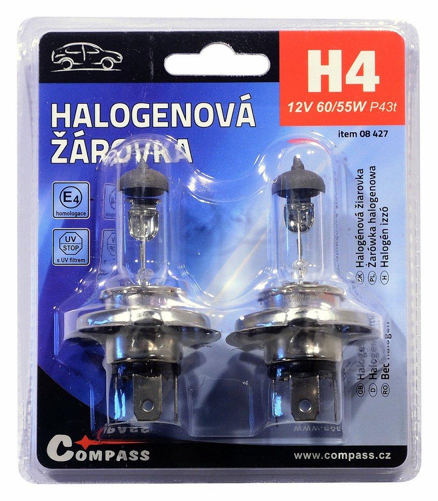 Žárovka 12V  H4  60/55W P43t blister 2ks
