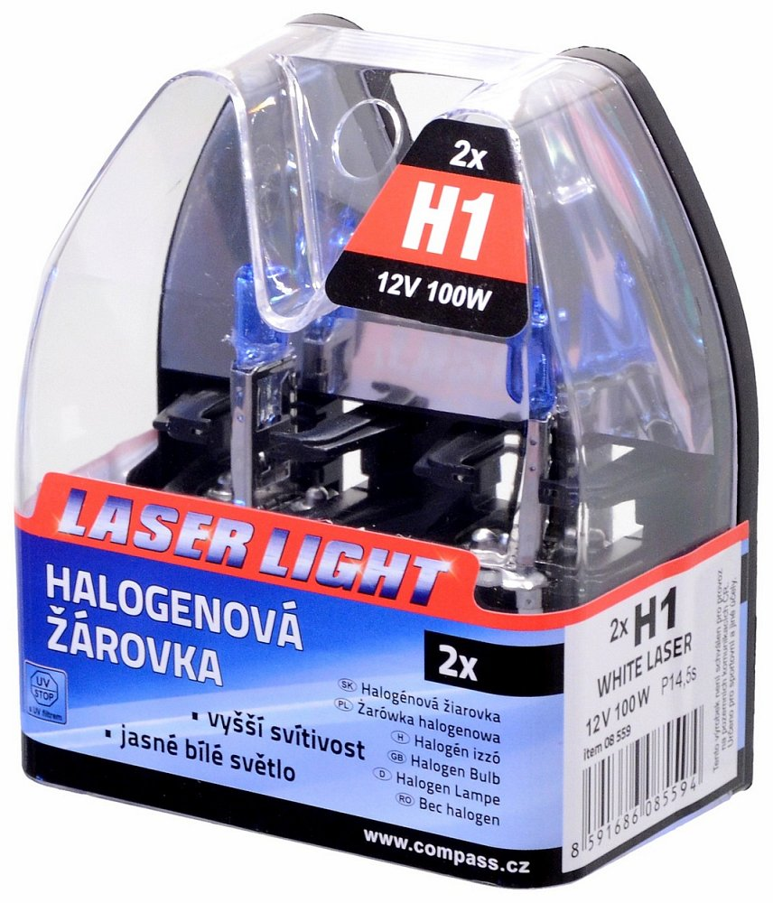 Žárovka 12V H1 100W P14,5s WHITE LASER 2ks