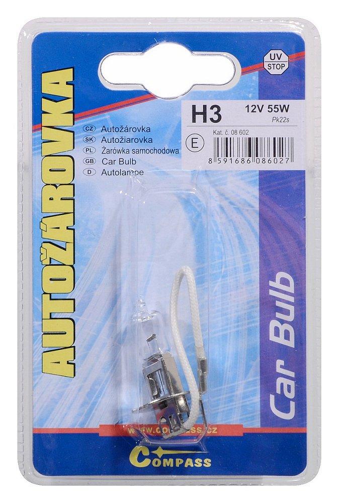 Žárovka 12V  H3  55W Pk22s blister 1ks