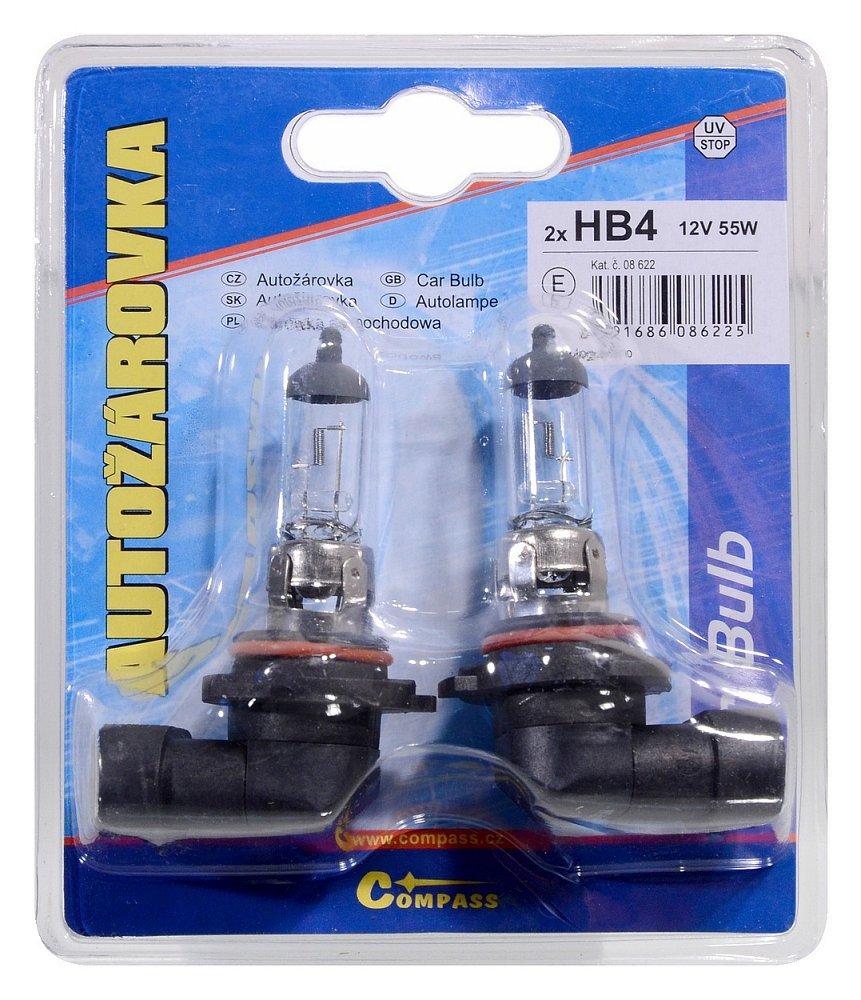 Žárovka 12V  HB4  51W P22d blister 2ks