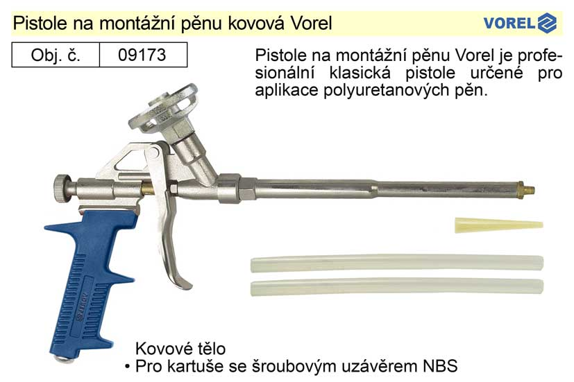 Pistole na montážní pěnu kovová