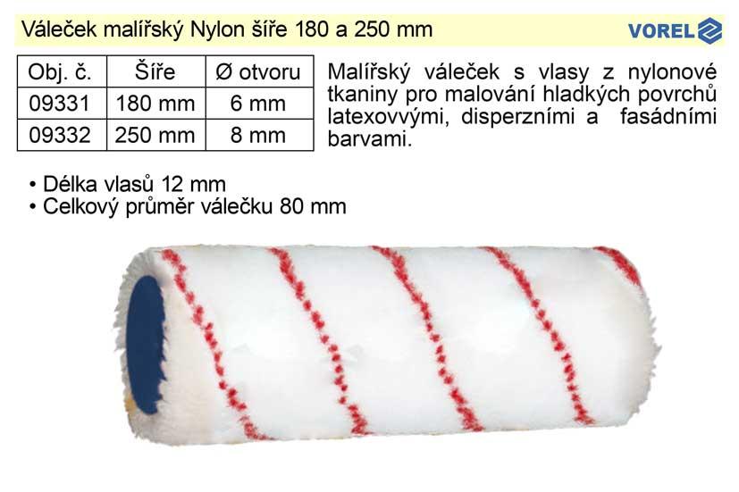 Váleček malířský Nylon šíře 250 mm