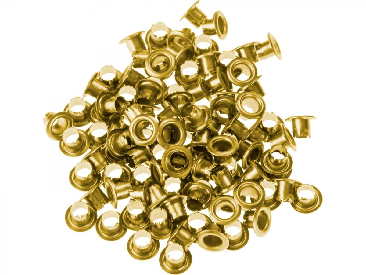 EXTOL CRAFT očka-druky, sada100ks, barva zlatá mosaz  10261 Nářadí 0.021Kg MA10261