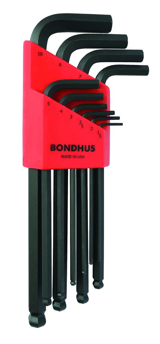 BONDHUS BLX10M sada profi L-klíčů inbus s kuličkou HEX 1,5-10 10ks
