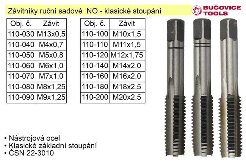 Závitníky ruční sadové  M8x1,25 NO klasický závit