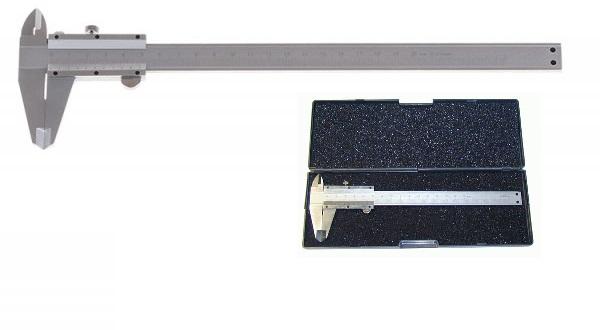 měřítko posuvné kovové, 0-200mm, rozlišení ± 0,05mm, dva typy čelistí pro různé typy měře