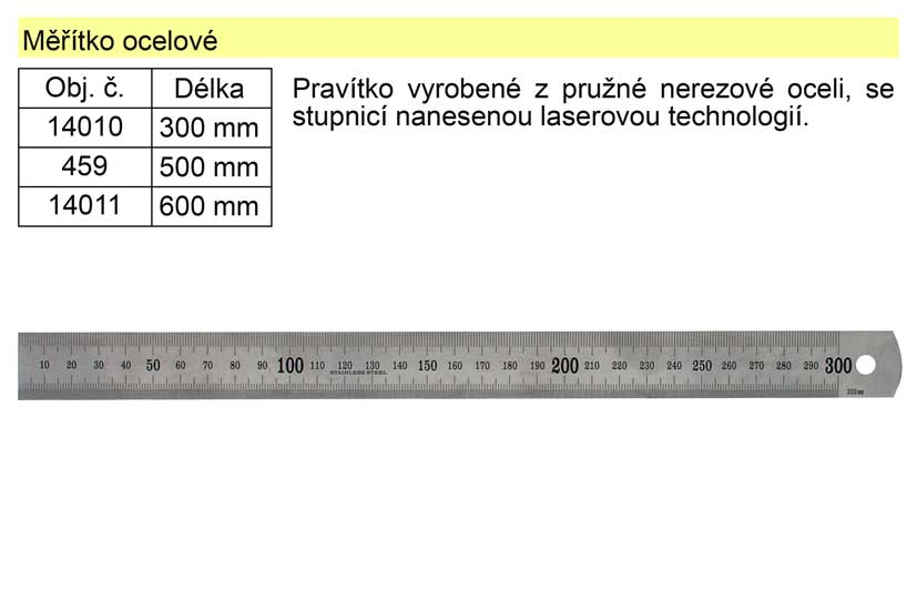 Měřítko ocelové 30cm Nářadí 0.068Kg 14010
