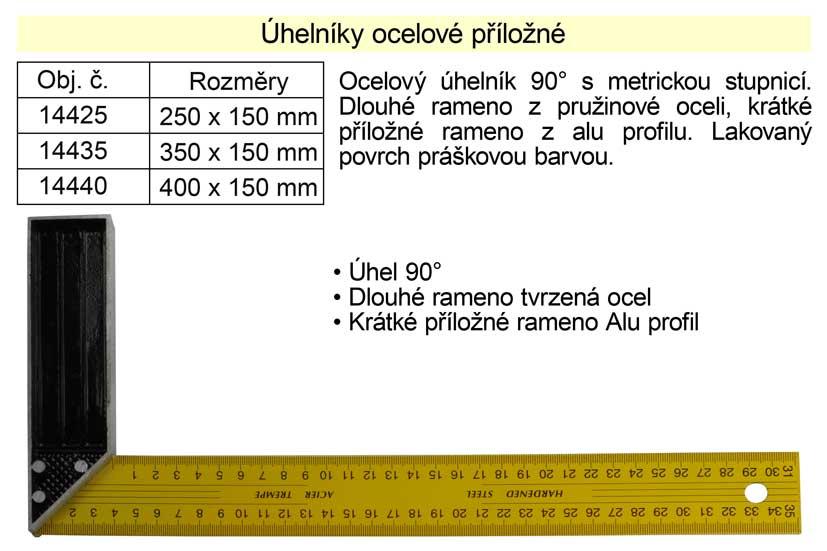 Úhelník ocelový příložný 250x100mm Nářadí 0.106Kg 14425