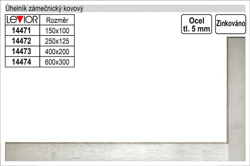 Úhelník zámečnický kovový 100x150mm Nářadí 0.172Kg 14471