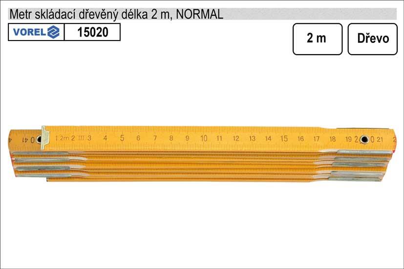 Metr skládací dřevěný Normal 2m
