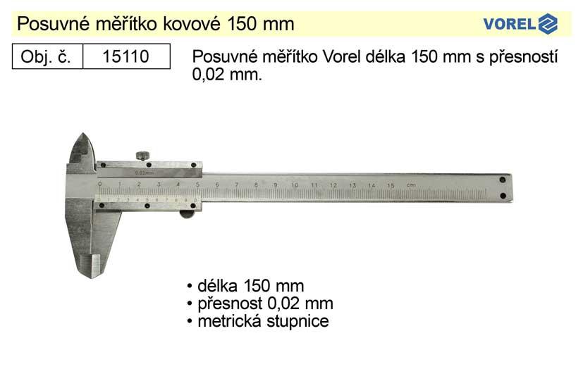 Posuvné měřítko kovové 150mm