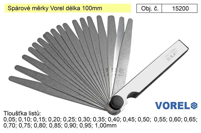 Spárové měrky Vorel délka 100mm