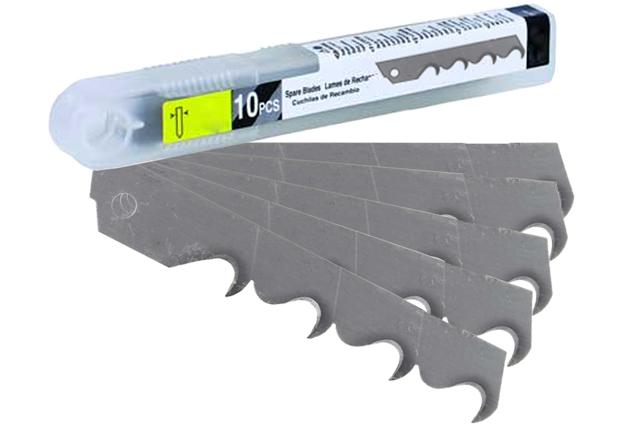Náhradní břity pro ulamovací nože, šíře 18, linařský háček, 10 kusů, Festa