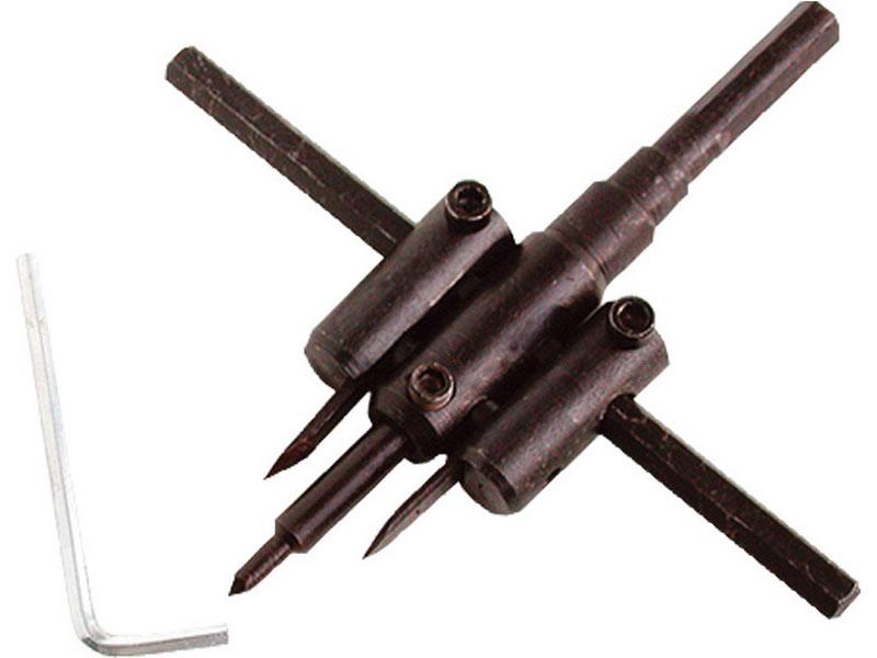 vrták nastavitelný vykružovací do dřeva s 2břity, Ř30-120mm, EXTOL CRAFT