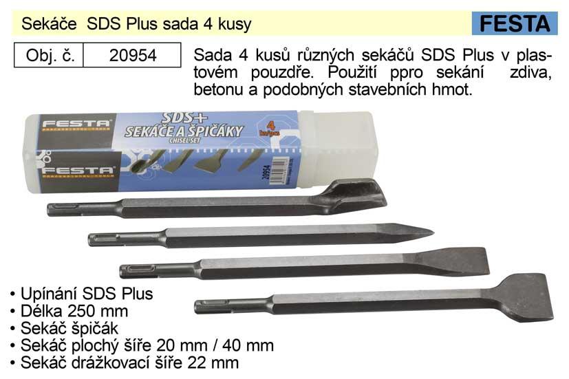 Sekáče  SDS Plus sada 4 kusy