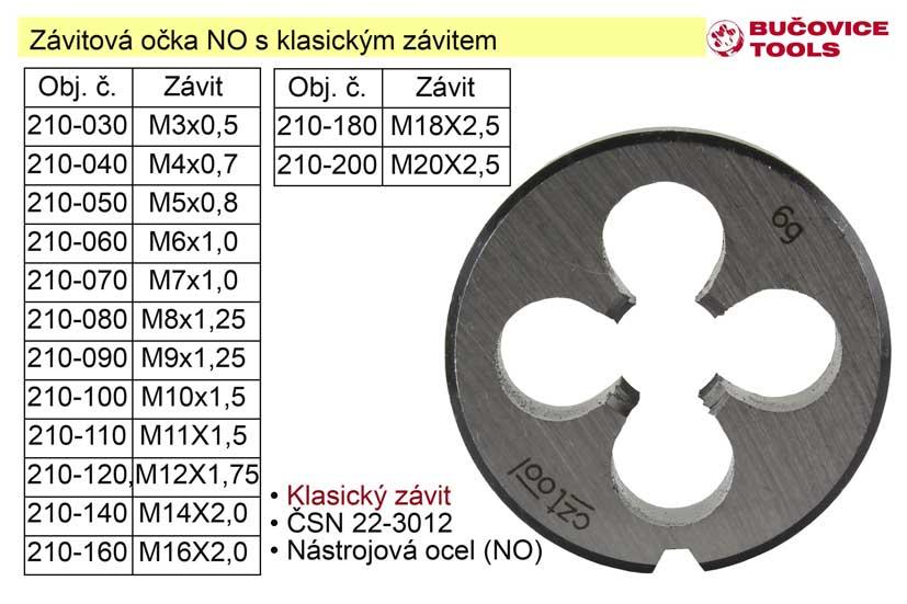 Závitové očko M16x2,0 NO klasický závit