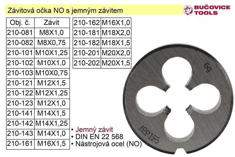 Závitové očko  M8x1,0 NO jemný závit Nářadí 2Kg 210-081