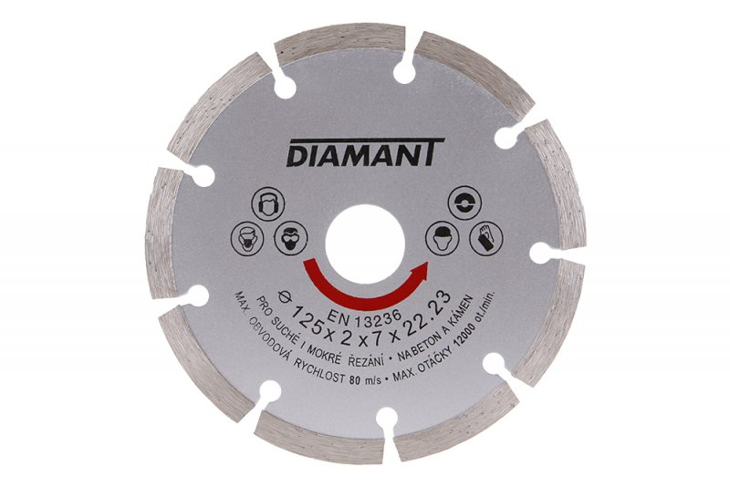 FESTA Kotouč diamantový segmentový pro úhlové brusky 125mm, na beton Nářadí 0.141Kg 21112