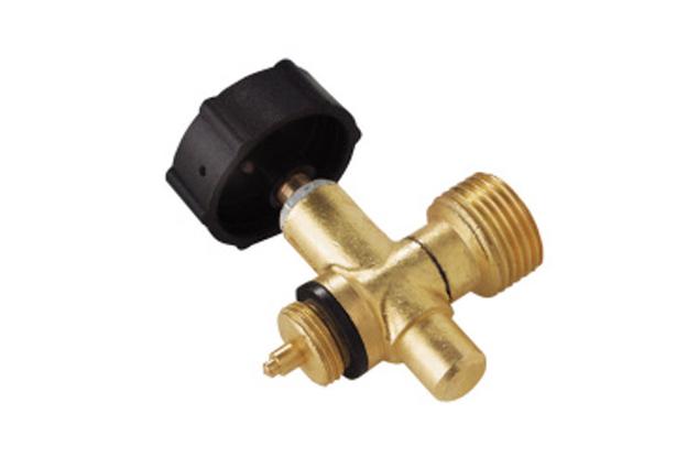 Ventil pro připojení na plynovou láhev 2 kg s výstupním závitem W 21,8 L