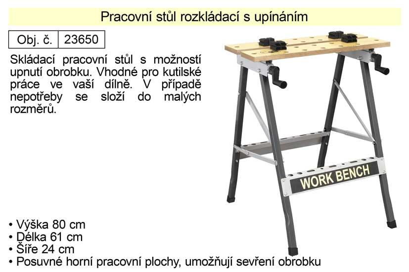 Pracovní stůl rozkládací s upínáním