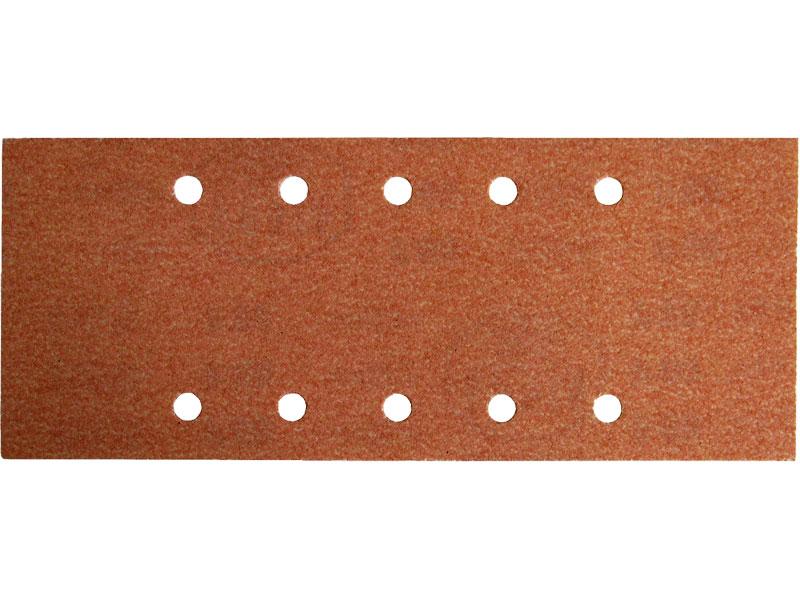 Brusný papír pro vibrační brusku balení 10 kusů hrubost P80 rozměr 115x280mm