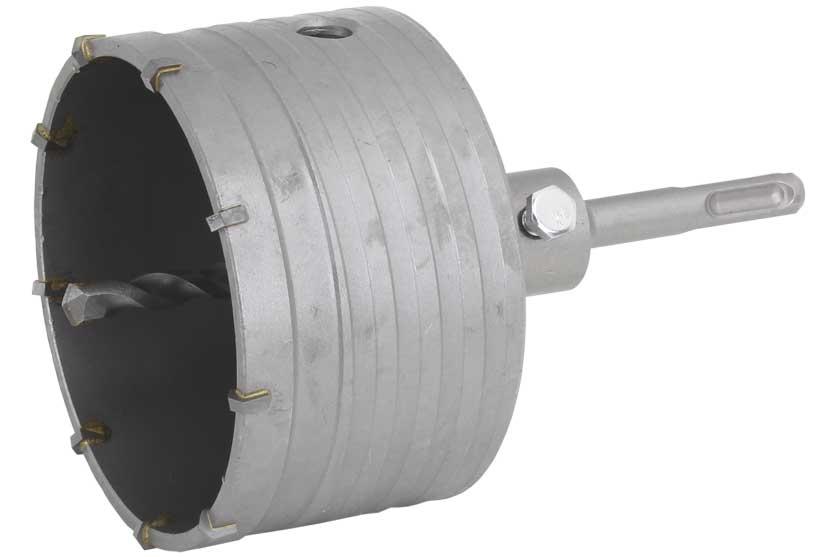 Vrták do betonu korunkový průmer 100mm se stopkou SDS Plus
