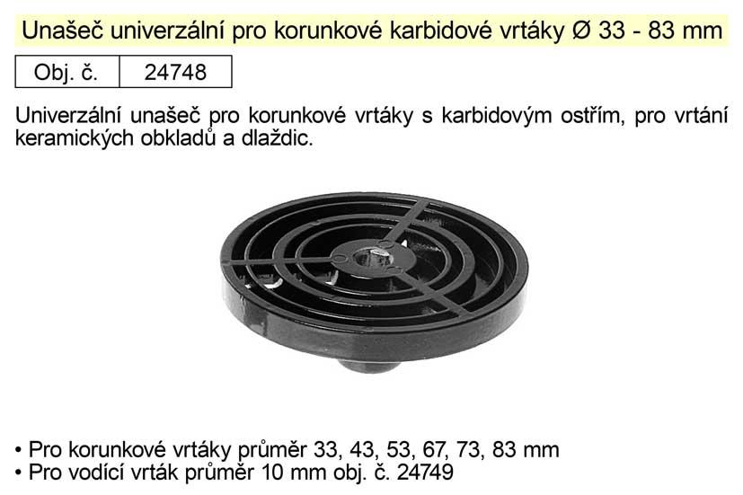 Unašeč univerzální pro korunkové vrtáky průměr 33 - 83 mm