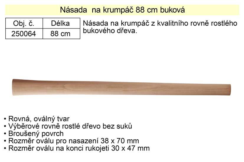 Násada  na krumpáč 88 cm buková