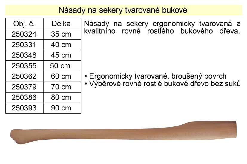 Násada na sekeru tvarovaná 90 cm buková